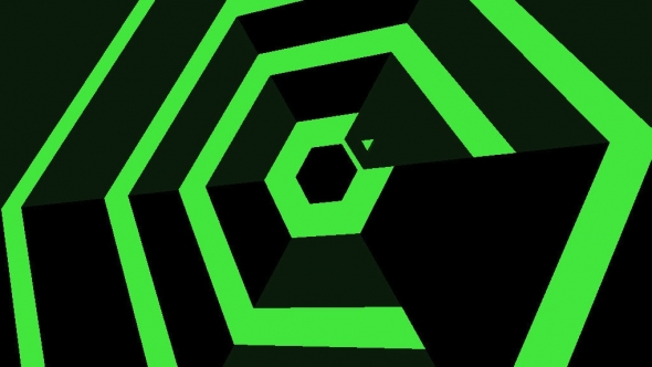 Header: Super Hexagon - Super hart, super geil