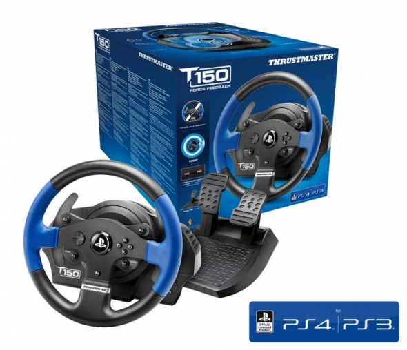 thrustmaster t150 im test einsteiger lenkrad f r pc. Black Bedroom Furniture Sets. Home Design Ideas